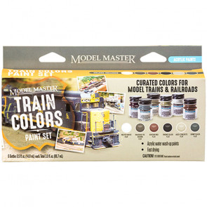 Testors Model Master 6 Color Paint Set, Train Colors