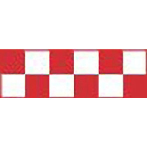Top Flite Trim MonoKote Checkerboard Red/Clear
