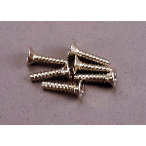 TRAXXAS Screws, 3x12mm countersunk self-tapping (6)