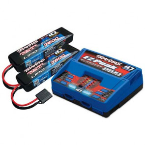 Traxxas 2S Battery/Dual iD Charger Completer Pack