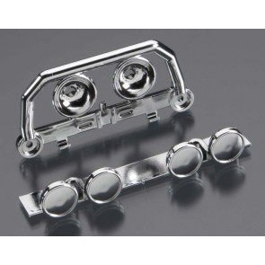 Traxxas Lightbar Front Bumper Chrome Roof Lightbar Chrome