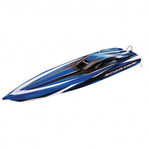 "Traxxas Spartan Brushless 36"" Muscleboat TSM RTR Blue"