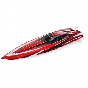 "Traxxas Spartan Brushless 36"" Muscleboat TSM RTR Red"
