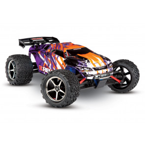 Traxxas 1/16 E-Revo VXL Brushless 4WD RTR RC Monster Truck w/TSM, ID Battery & Quick Charger - Purple