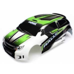 TRAXXAS Body, LaTrax 1/18 Rally, green (painted)/ decals