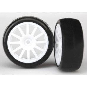 TRAXXAS WHEELS & TRIES WHITE 12 SPOKE