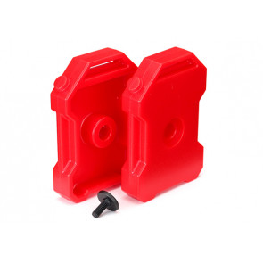 Traxxas Fuel canisters (red) (2)