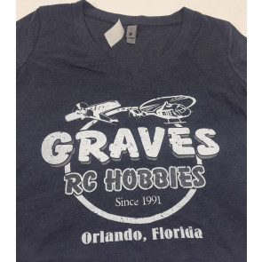 GRAVES RC HOBBIES BLUE RETRO LADIES LARGE