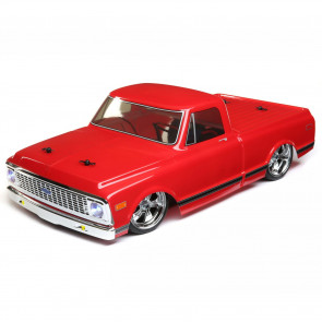 Vaterra 1/10 1972 Chevy C10 Pickup Truck V-100 S 4WD Brushed RTR, Red
