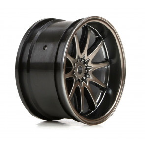 Vaterra Wheel Rear Volk Racing CE28N 54x30mm, Gun Metal (2)