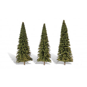 """WOODLAND SCENICS CLASSIC TREE FOREVER GREEN 7""""-8"""" (3)"""