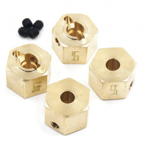 YEAH RACING Brass Hex Adaptor 9mm Offset For 12mm Hex Wheels 4pcs