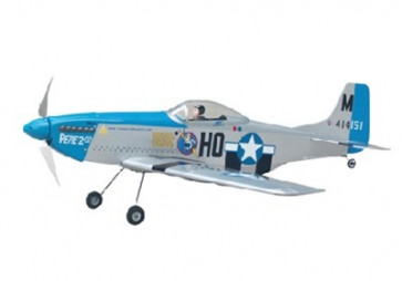 AIRBORNE MODELS P-51 EP SILVER ARF BRUSHLESS