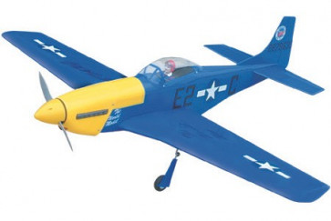 Airborne Models P-51 Mustang 40 ARF, Blue