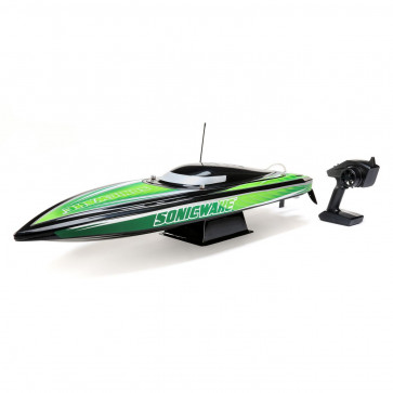 "ProBoat Sonicwake 36"" Self-Righting Brushless Deep-V RTR, Black"