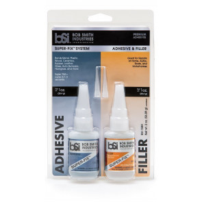 Bob Smith Industries Clear Super-Fix System, Adhesive and Filler Combo Pack, 2 fl. oz.