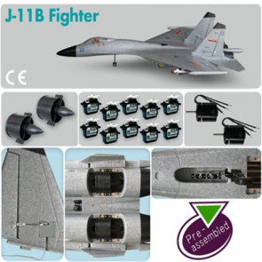 AIRBORNE MODELS J-11B Fighter (Pre-assembled Combo)