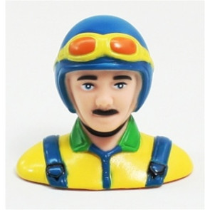 Airborne Models PILOT STATUE 63mm tall, blue/yellow