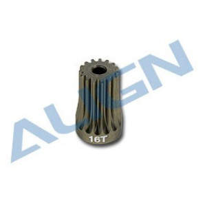 ALIGN T-REX 500 MOTOR PINION GEAR, 16 TOOTH