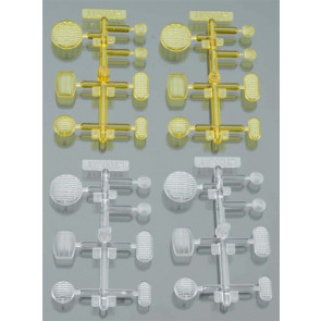 Axial LED Lens Set Yellow/Clear (4)