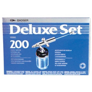 Badger 200 Deluxe Medium Airbrush Kit