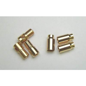 BALSA PRODUCTS Heavy Duty 6.0mm Gold Plated Bullet Connector Set 3-Male/3-Female