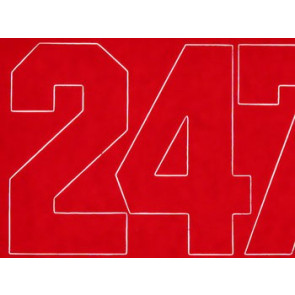 Coverite Numbers Red 3""