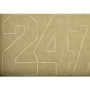 Coverite Numbers White 3""