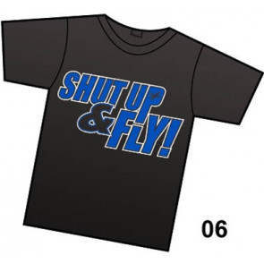 COMMON SENSE RC Shut Up & Fly! T-SHIRT, BLACK, LARGE