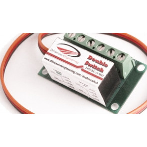 DIMENSIONENGINEERING DoubleSwitch Radio Controlled Dual 8A Relay