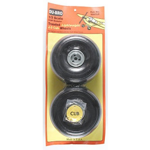 Dubro 1/3 Lightweight J-3 Cub Wheels (2)