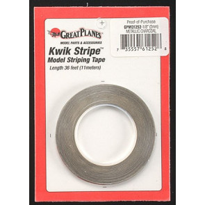 Great Planes Striping Tape Metallic Charcoal 1/8""