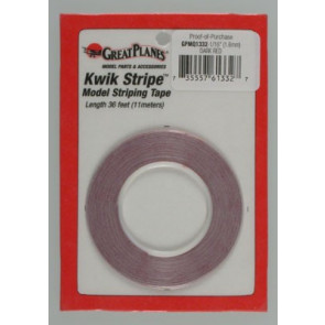 Great Planes Striping Tape Dark Red 1/16""