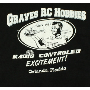 GRAVES RC HOBBIES Ladies Black Tank Top, Ribbed, X-Large