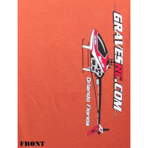 GRAVES R/C HOBBIES HELI T-SHIRT, RUST, 3XL