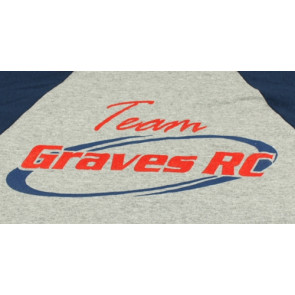 GRAVES RC HOBBIES Team Shirt, Grey, Youth Large