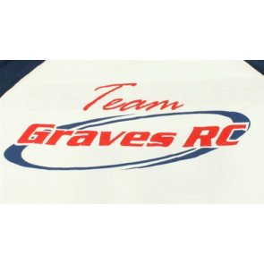GRAVES RC HOBBIES Team Shirt, White, Youth Medium