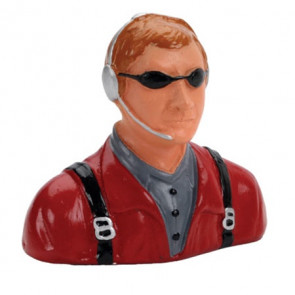 HANGAR 9 1/7 Pilot, Civilian, with Headset, Mic And Sunglasses