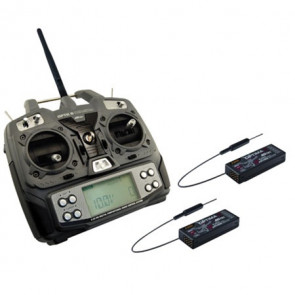 HITEC Optic 6 2.4GHz Transmitter w/ 2 Optima 7 Receiver