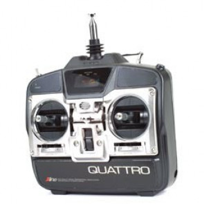 JR 4ch Quattro Lite Transmitter with R610, (2) 241 Servos