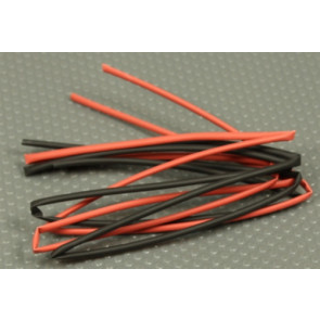 KTHS2BR3FT Heatshrink 2mm, Black/Red, (2) 3FT Pieces
