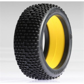 LOSA7769R LOSI 1/8 Eclipse Buggy Tire with Foam Red (2)