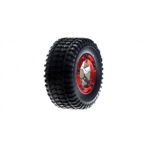 LOSB1950 LOSI Front Mounted Tire, Chrome (2): MSCT