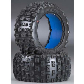 Pro-Line Bow-Tie 5B Rear Tires w/Blue Molded Foam, HPI BAJA 5B