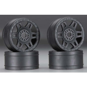 Pro-Line 1/8 Split Six V2 Front/Rear Wheels Black (4)