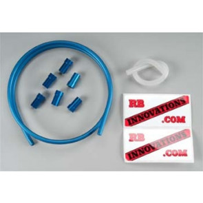 RBV Aluminum Monster Fuel Line Kit, Anodized Blue