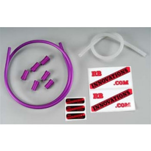 RBV Aluminum Monster Fuel Line Kit, Anodized Purple