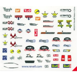 Revell Peel & Stick Decal Assortment #F (2 Sheets)
