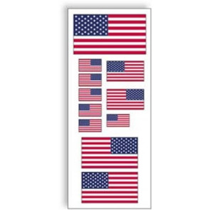 SIG AMERICAN FLAGS DECAL