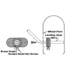 """SIG WHEEL PANT MOUNTS FOR 1/8"""" WIRE (2)"""
